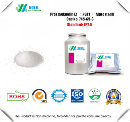 China Pharmaceutical grade Prostaglandin e1 CAS 745-65-3 PGE1  Alprostadil powder Cheap Price USP BP Standard factory